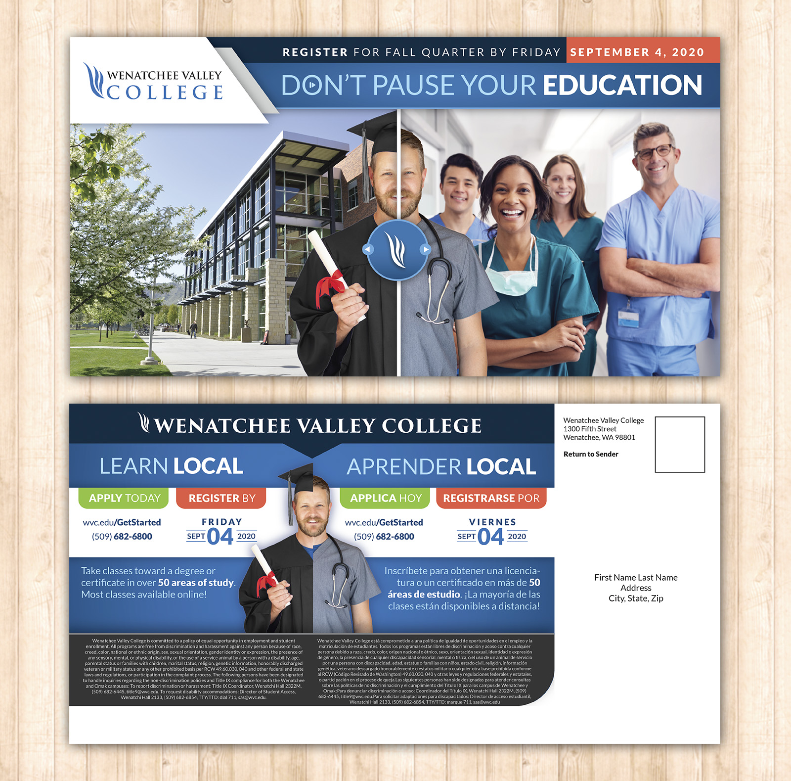 WVC: Don't Pause Your Education Mailer
